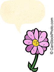 泡, 花, スピーチ, 漫画