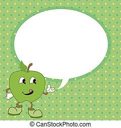 泡, vect, 緑のリンゴ, スピーチ