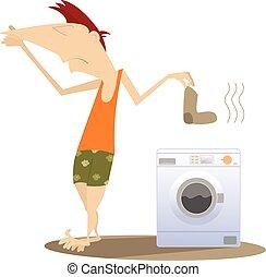 洗濯物, 汚い