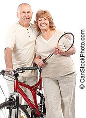活動的, 年配の カップル