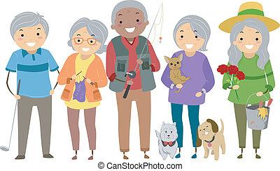 活動, 高齢者