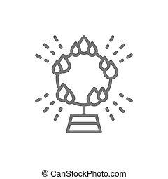 活躍の舞台, 火, サーカス, 線, 炎, icon., リング, 円