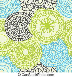 流行, パターン, seamless, 花