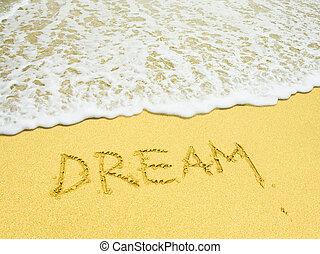 浜, 書き言葉, 夢, 砂