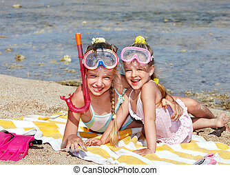 浜。, 遊び, 子供