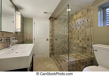 浴室, シャワー, ガラス