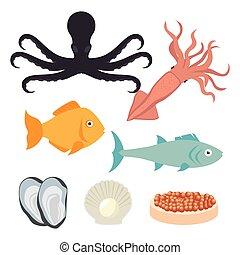 海, 美食, 食物