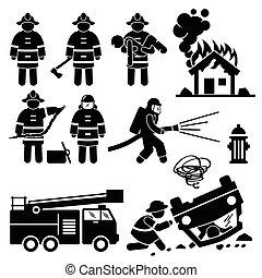 消防士, 救出, 消防士