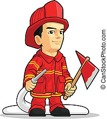 消防士, 漫画, 男の子