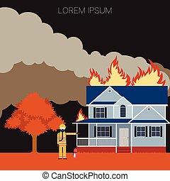 消防士, 火の家