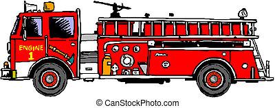 消防車, はしご