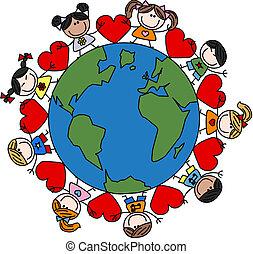 混ぜられた, 子供, 愛, 民族, 幸せ