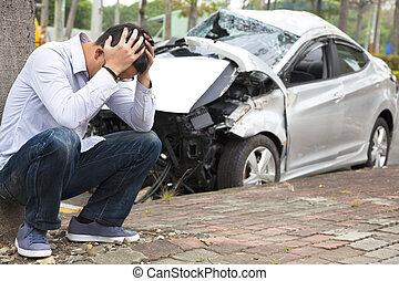 混乱, 運転手, 事故, 交通, 後で