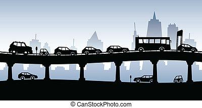混雑, 交通