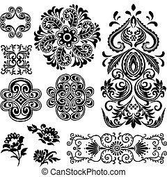 渦巻, 花の意匠, 空想, パターン