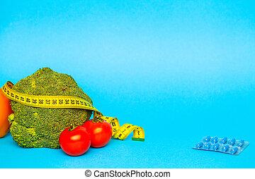 測定, 背景, 丸薬, 青, 損失, 重量, テープ