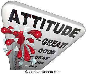 測定, positivity, 態度, 成功, 温度計