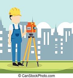 測量技師, 建築者, 都市