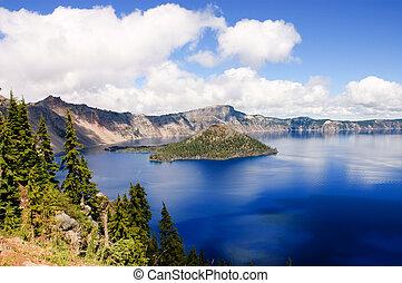 湖, オレゴン, 噴火口