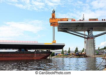 湾, てんま船, 橋, リフト