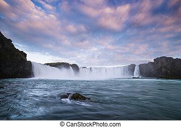 滝, 滝, godafoss, アイスランド