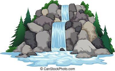 滝, 風景, 光景