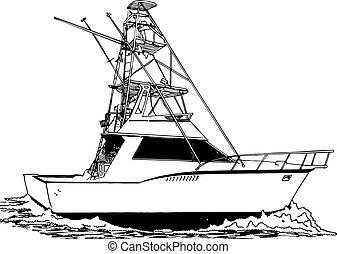 漁師, タワー, スポーツ, 大きい