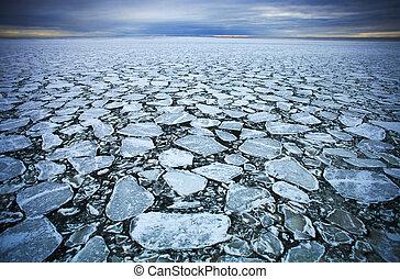 漂流, 氷
