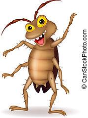 漫画, ゴキブリ, 手, 振ること