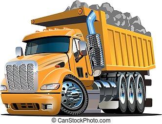 漫画, トラック, ベクトル, ゴミ捨て場