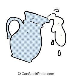 漫画, ミルク, 漫画, 水差し