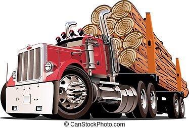 漫画, 伐採トラック