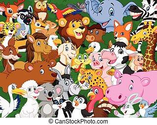 漫画, 動物, 背景