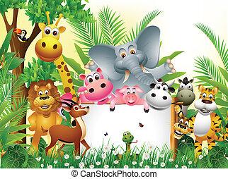 漫画, 動物, 面白い