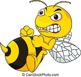漫画, 怒る, 蜂