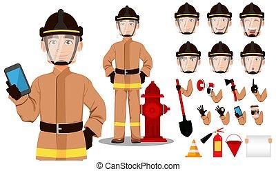 漫画, 消防士, 特徴