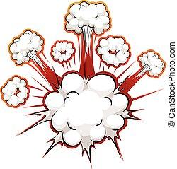 漫画, 爆発
