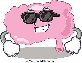 漫画, 脳, 身に着けていること, 特徴, ガラス, 黒, 上品