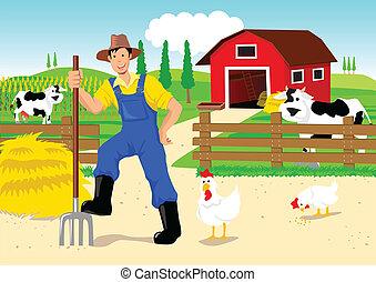 漫画, 農夫
