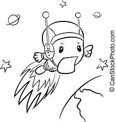 漫画, boy-astronaut