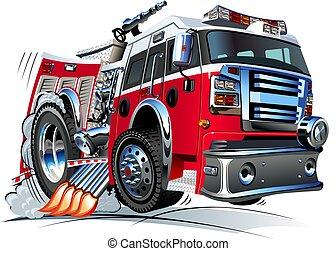 火トラック, 漫画