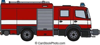 火トラック, 赤