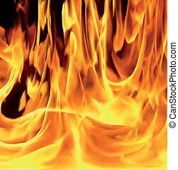 火, ベクトル, イラスト, 炎, texture.