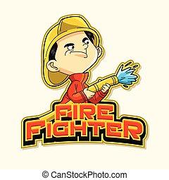 火, ロゴ, 戦闘機, イラスト