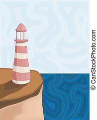 灯台, ベクトル, イラスト