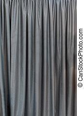 灰色, カーテン