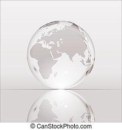 灰色, 地球, 照ること, 透明, 地球