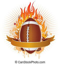 炎, フットボール, アメリカ