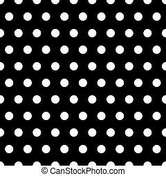 点, 白, 黒い背景