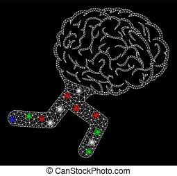 点, 脳, 死体, 明るい, 火炎信号, 噛み合いなさい, 動くこと